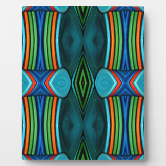 Cool Artistic Funky Symmetrical Pattern Plaque