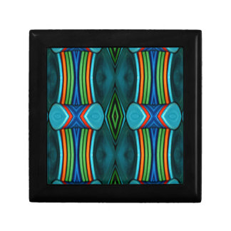 Cool Artistic Funky Symmetrical Pattern Trinket Boxes