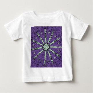 Cool Artistic Lavender Mint Mandala Pattern Baby T-Shirt