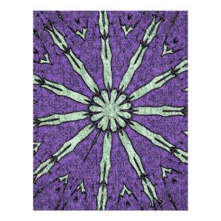Cool Artistic Lavender Mint Mandala Pattern Personalized Letterhead