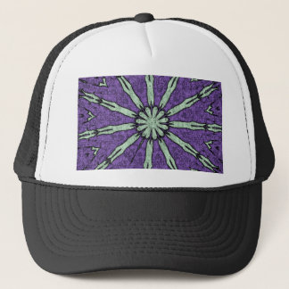 Cool Artistic Lavender Mint Mandala Pattern Trucker Hat