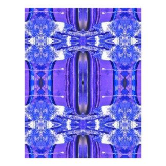 Cool Artistic Lavender Periwinkle Blue Pattern Letterhead Design