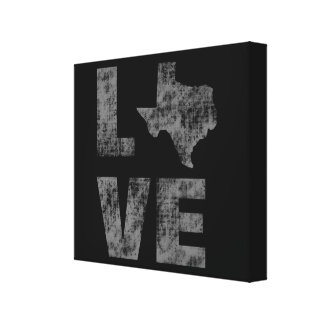 Cool Artistic modern and  Rustic Love of Texas Canvas Print