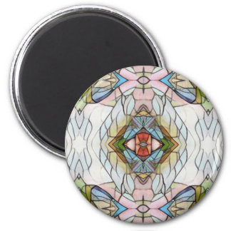 Cool Artistic Modern Stained Glass Pattern 2 Inch Round Magnet