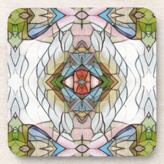 Cool Artistic Modern Stained Glass Pattern Coasters