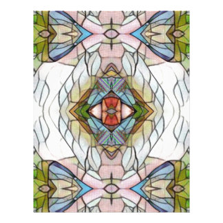 Cool Artistic Modern Stained Glass Pattern Letterhead