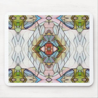Cool Artistic Modern Stained Glass Pattern Mouse Pad