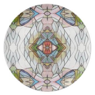 Cool Artistic Modern Stained Glass Pattern Plate