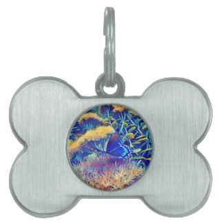 Cool Artistic Monarch Butterfly Pet ID Tag