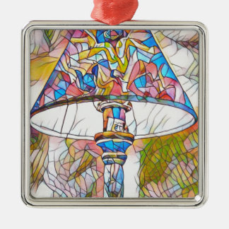 Cool Artistic Stained Glass Lamp Shade Metal Ornament