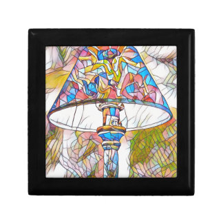 Cool Artistic Stained Glass Lamp Shade Trinket Boxes