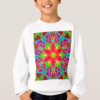 Cool Artistic Star Shaped Psychedelic Pattern Sweatshirt