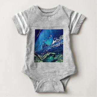 Cool Artistic Underside of Stingray Baby Bodysuit