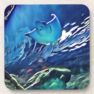 Cool Artistic Underside of Stingray Coaster