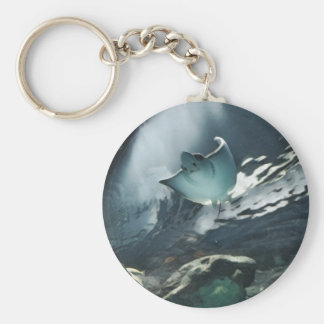 Cool Artistic Underside of Stingray Keychain