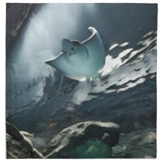 Cool Artistic Underside of Stingray Napkin