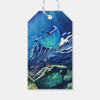 Cool Artistic Underside of Stingray Pack Of Gift Tags