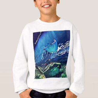 Cool Artistic Underside of Stingray Sweatshirt