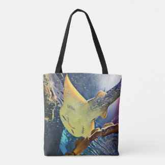 Cool Artistic Underside of Stingray Tote Bag