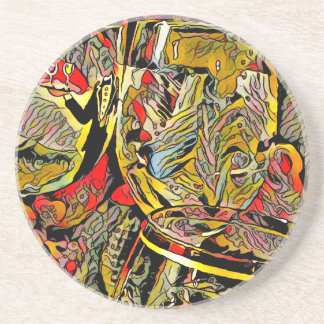 Cool Artsy Modern Wine Glass Decor Coaster