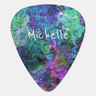 Cool Artsy Monogram Guitar Pick
