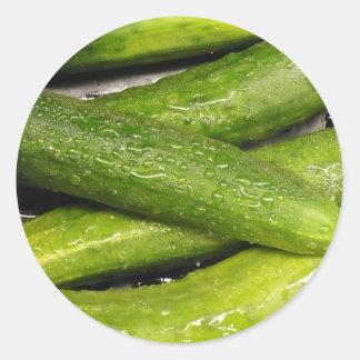 cool As A cucumber Classic Round Sticker