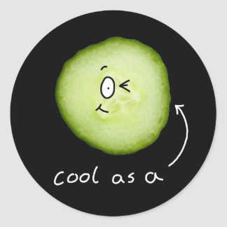 cool as a cucumber sticker