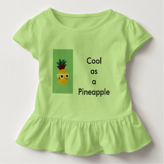 Cool as a pineapple outfit for girls toddler t-shirt