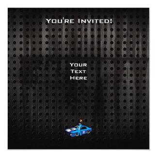 """Cool Auto Racing 5.25"""" Square Invitation Card"""