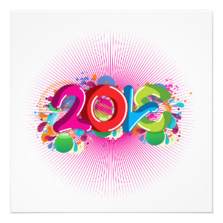 cool awesome colourful Love 2013 splatter doodles Custom Invites