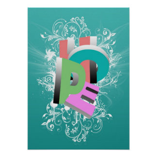 Cool awesome Hope word three dimensional effect Poster