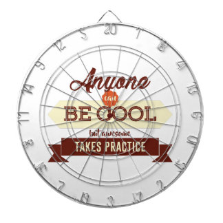 Cool & Awesome Practice Makes Perfect Dartboard