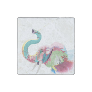 Cool awesome trendy colorful vibrant elephant stone magnets