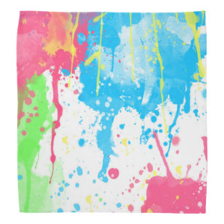 Cool awesome trendy colourful vibrant watercolours bandana