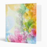 """Cool awesome trendy quote """"Keep Calm and Dream Big Vinyl Binder"""