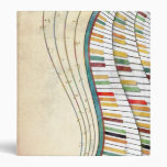 Cool awesome wavy piano retro colours antique 3 ring binder