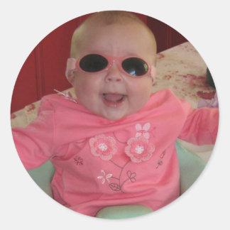 cool baby cool round sticker