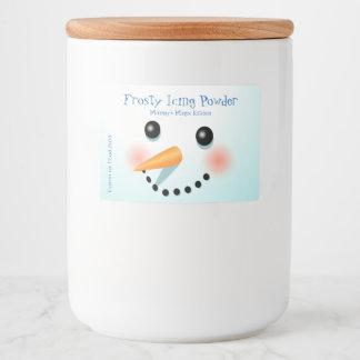 Cool Baby Snowman Cartoon Food Label