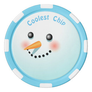 Cool Baby Snowman Cartoon Poker Chip Set