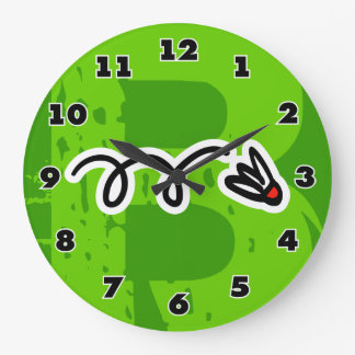 Cool badminton clock for home or club house
