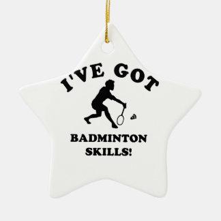 cool badminton designs ceramic ornament