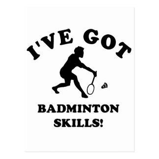 cool badminton designs postcard
