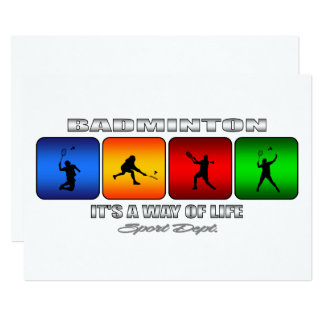 Cool Badminton It Is A Way Of Life Card