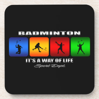 Cool Badminton It Is A Way Of Life Coaster