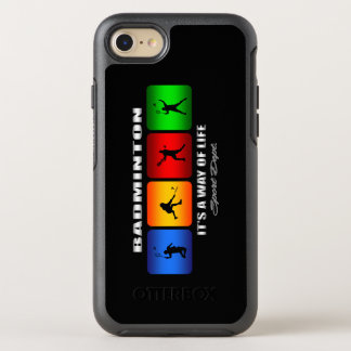 Cool Badminton It Is A Way Of Life OtterBox Symmetry iPhone 8/7 Case