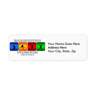 Cool Badminton It Is A Way Of Life Return Address Label