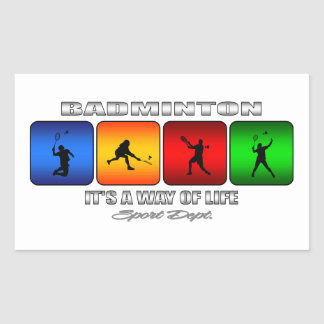 Cool Badminton It Is A Way Of Life Sticker