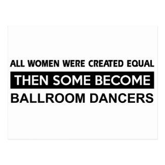 Cool Ballroom Dancing designs Postcard