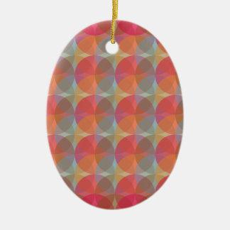 Cool Balls Ceramic Oval Ornament