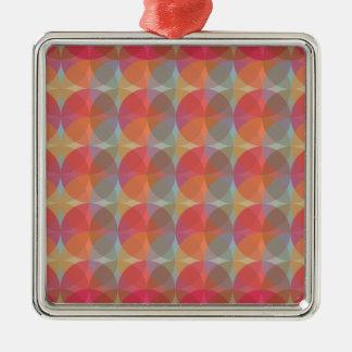 Cool Balls Silver-Colored Square Ornament